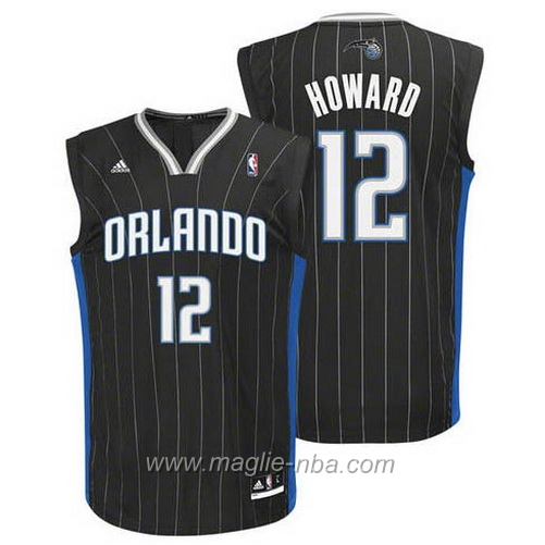 Maglia Dwight Howard #12 nero Orlando Magic