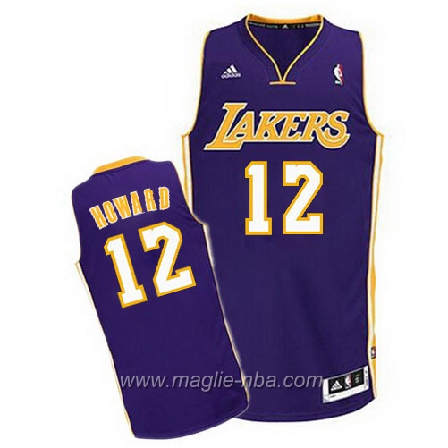 Maglia Dwight Howard #12 porpora Los Angeles Lakers