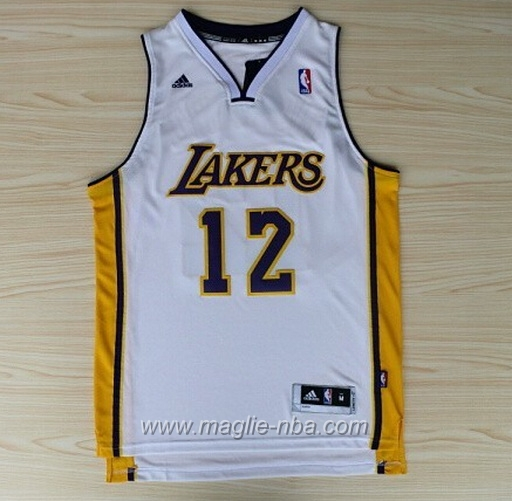 Maglia Dwight Howard #12 bianco Los Angeles Lakers