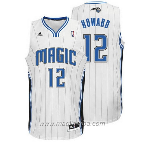 Maglia Dwight Howard #12 bianco Orlando Magic