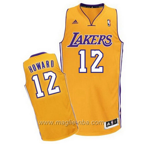 Maglia Dwight Howard #12 giallo Los Angeles Lakers
