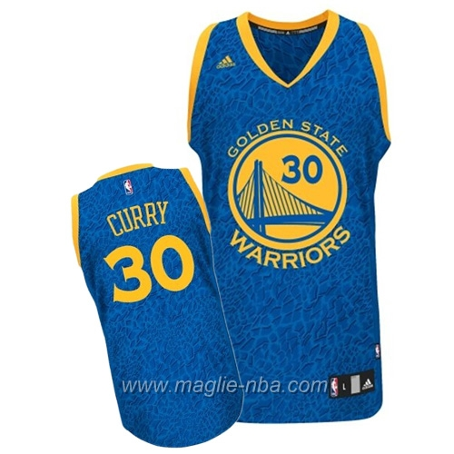 Maglia Leopard luce Swingman Stephen Curry #30 blu Golden State Warriors