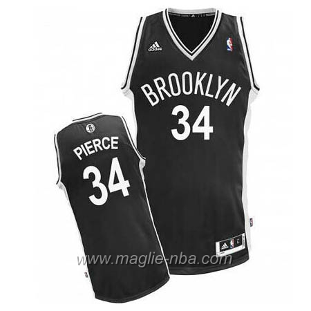 Maglia Paul Pierce #34 nero Brooklyn Nets