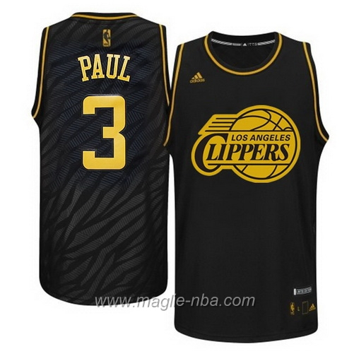 Maglia Metalli preziosi moda Swingman Chris Paul #3 nero Los Angeles Clippers