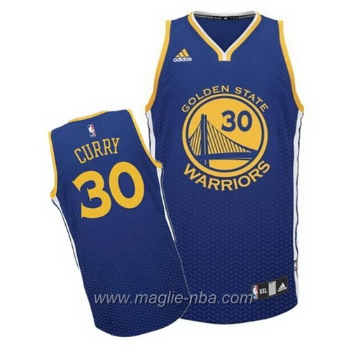 Maglia risuonare Moda Swingman Stephen Curry #30 blu Golden State Warriors