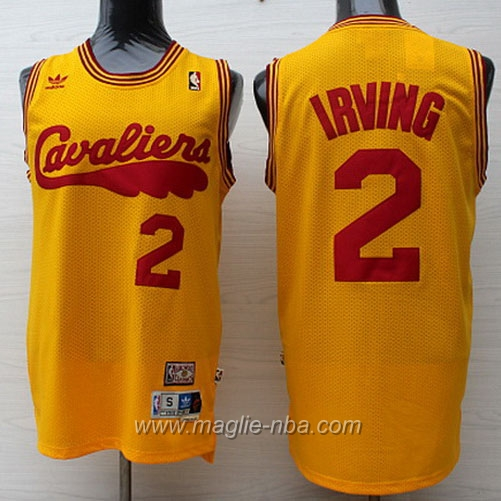 Maglia Retro Swingman Kyrie Irving #2 giallo Cleveland Cavaliers