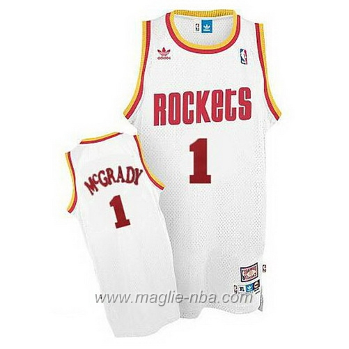 Maglia Retro Swingman Tracy McGrady #1 bianco Houston Rockets