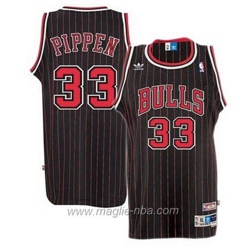 Maglia Retro Swingman Scottie Pippen #33 nero Chicago Bulls