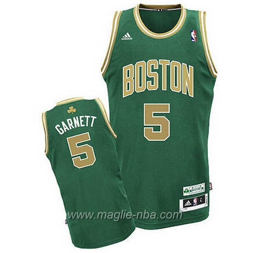 Maglia St Patricks Day Kevin Garnett #5 verde Boston Celtics
