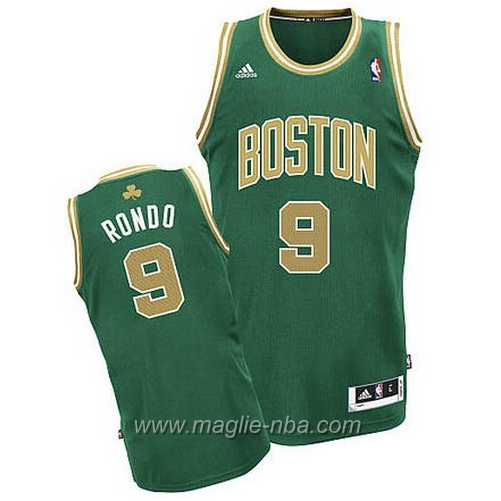 Maglia St Patricks Day Rajon Rondo #9 verde Boston Celtics
