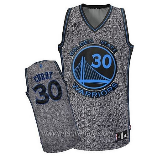 Maglia Moda statica Swingman Stephen Curry #30 grigio Golden State Warriors