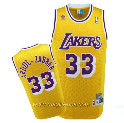 Maglia Swingman Abdul Jabbar #33 giallo Los Angeles Lakers