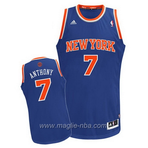 Maglia Swingman Carmelo Anthony #7 blu New York Knicks