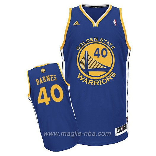 Maglia Swingman Rookie Aaron Harrison Barnes #40 blu Golden State Warriors