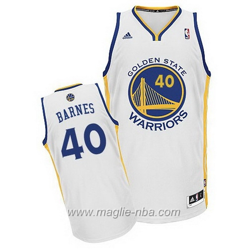 Maglia Swingman Rookie Aaron Harrison Barnes #40 bianco Golden State Warriors