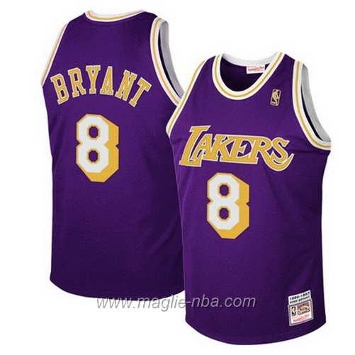 Maglia Swingman Kobe Bryant #8 porpora Los Angeles Lakers