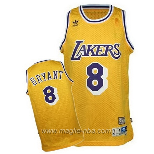 Maglia Swingman Kobe Bryant #8 giallo Los Angeles Lakers
