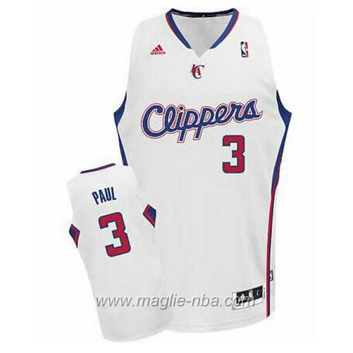 Maglia Swingman Chris Paul #3 bianco Los Angeles Clippers