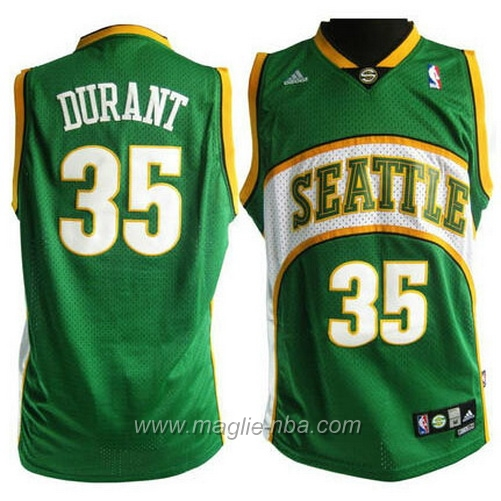 Maglia Swingman Kevin Durant #35 verde Seattle SuperSonics