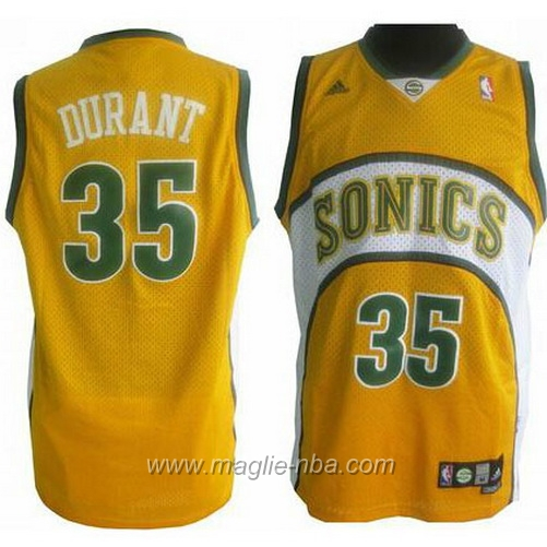 Maglia Swingman Kevin Durant #35 giallo Seattle SuperSonics