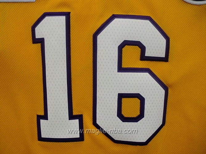 Maglia Swingman Pau Gasol #16 giallo Los Angeles Lakers