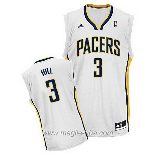 Maglia Swingman George Grant Hill #3 bianco Indiana Pacers