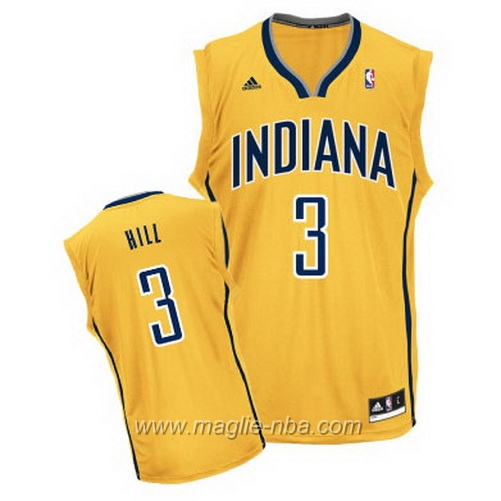 Maglia Swingman George Grant Hill #3 giallo Indiana Pacers