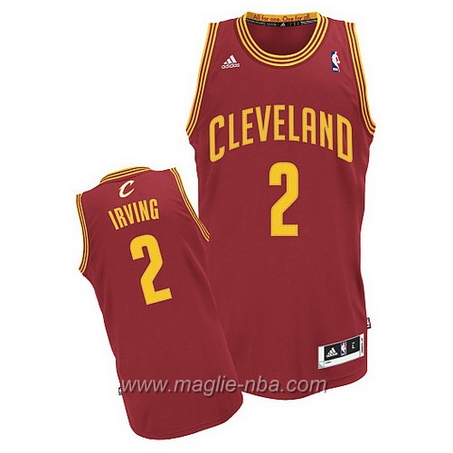 Maglia Swingman Kyrie Irving #2 rosso Cleveland Cavaliers