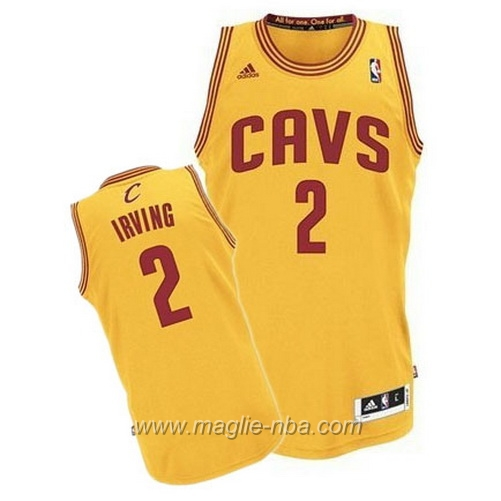 Maglia Swingman Kyrie Irving #2 giallo Cleveland Cavaliers