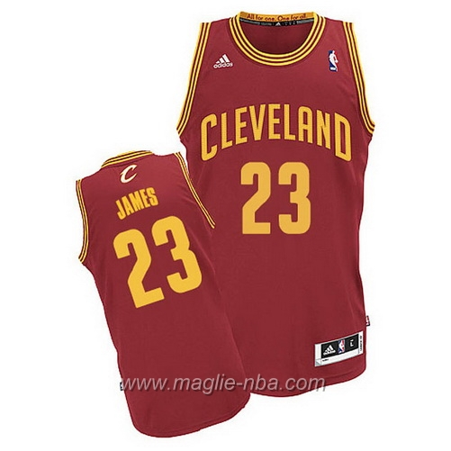 Maglia Swingman LeBron James #23 rosso Cleveland Cavaliers