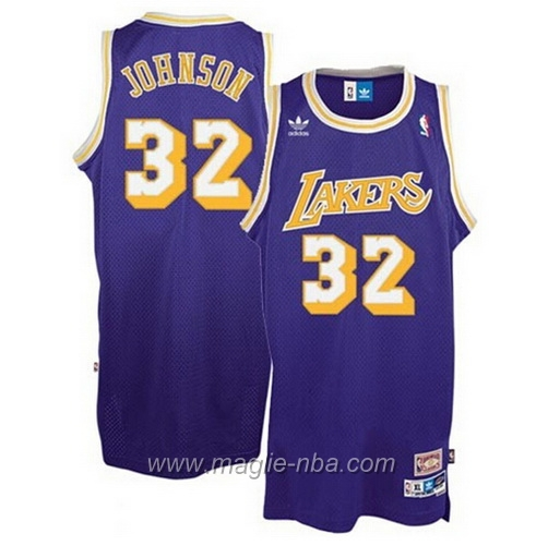 Maglia Swingman Magic Johnson #32 porpora Los Angeles Lakers