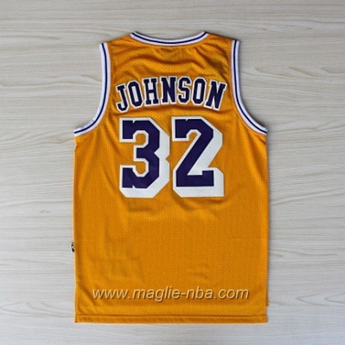 Maglia Swingman Magic Johnson #32 giallo Los Angeles Lakers