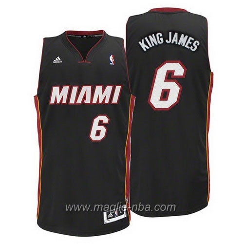 Maglia Swingman King LeBron James #6 nero Miami Heat