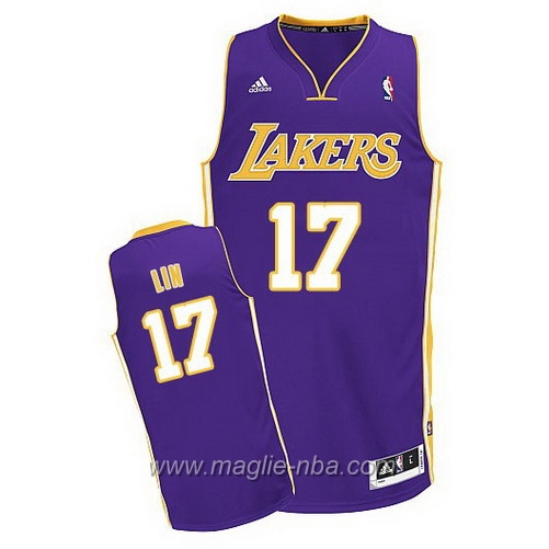 Maglia Swingman Jeremy Lin #17 porpora Los Angeles Lakers