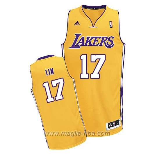 Maglia Swingman Jeremy Lin #17 giallo Los Angeles Lakers