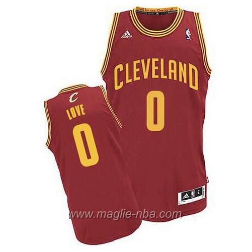 Maglia Swingman Kevin Love #0 rosso Cleveland Cavaliers