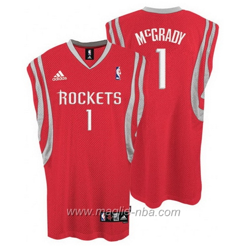 Maglia Swingman Tracy McGrady #1 rosso Houston Rockets