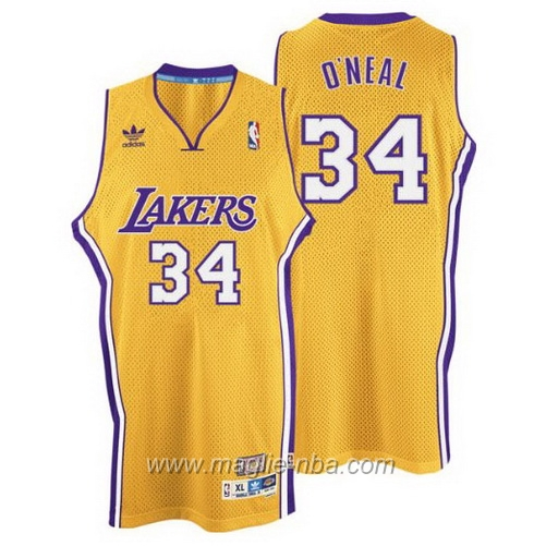 Maglia Swingman Shaquille O'Neal #34 giallo Los Angeles Lakers
