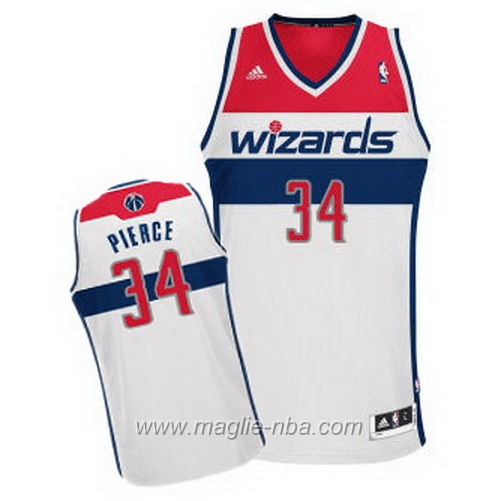 Maglia Swingman Paul Pierce #34 bianco Washington Wizards