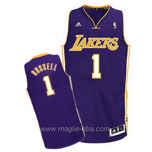 Maglia Swingman D'Angelo Russell #1 porpora Los Angeles Lakers