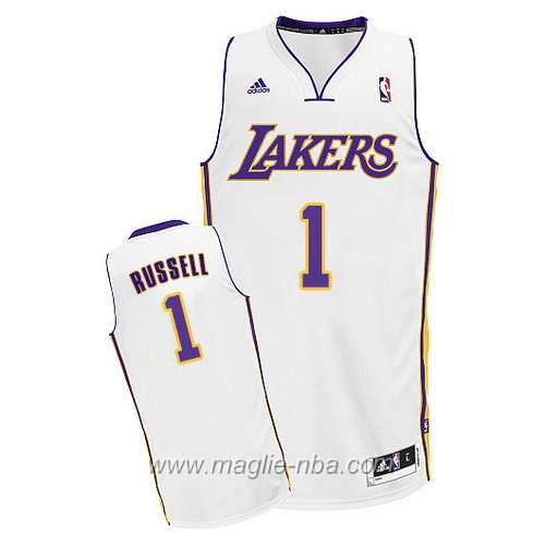 Maglia Swingman D'Angelo Russell #1 bianco Los Angeles Lakers