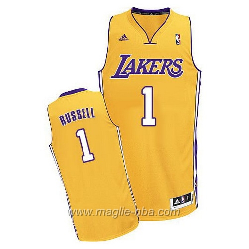 Maglia Swingman D'Angelo Russell #1 giallo Los Angeles Lakers