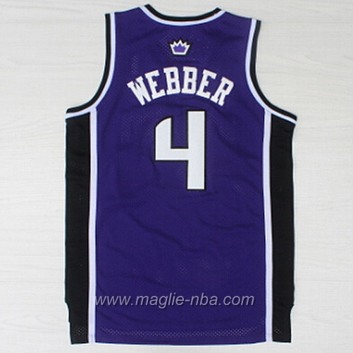 Maglia Swingman Chris Webber #4 porpora Sacramento Kings
