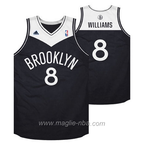 Maglia Swingman Deron Williams #8 nero Brooklyn Nets