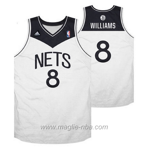 Maglia Swingman Deron Williams #8 bianco Brooklyn Nets