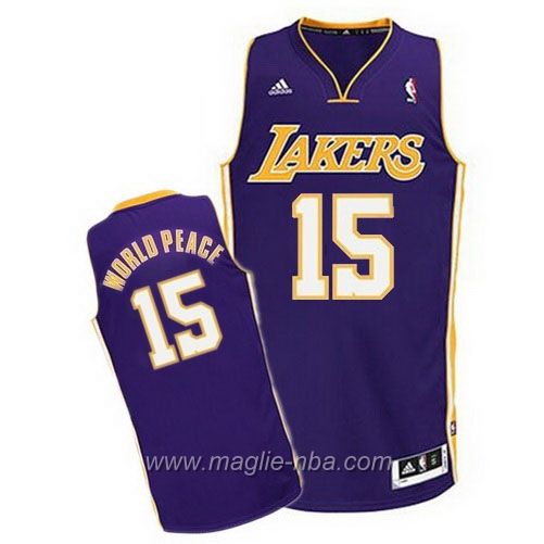 Maglia Swingman WorldPeace #15 porpora Los Angeles Lakers