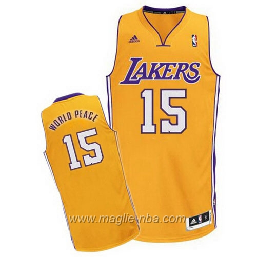 Maglia Swingman WorldPeace #15 giallo Los Angeles Lakers