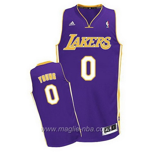 Maglia Swingman Nick Young #0 porpora Los Angeles Lakers