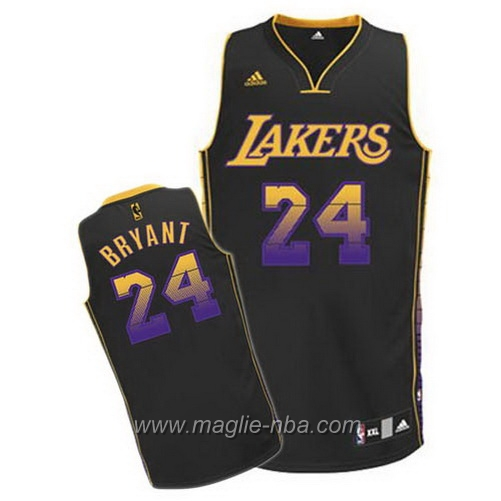 Maglia Moda Vibe Swingman Kobe Bryant #24 nero Los Angeles Lakers