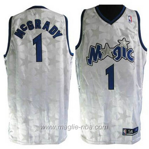 Maglia star Tracy McGrady #1 bianco Orlando Magic